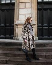 coat,animal print,leopard print,pernille teisbaek,blogger,blogger style,fall outfits