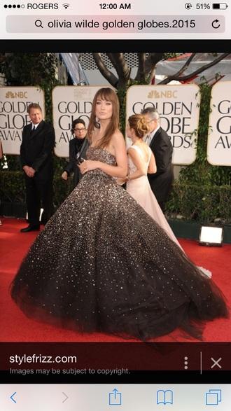 dress oliviawilde sparkle gold black dress ball gown dress