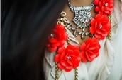 jewels,j crew,statement necklace,flowers