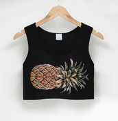 tank top,black,pineapple,tumblr,crop tops,shirt,cute,crop,fashion,cropped,summer,hipster,pinapple,top,beach,pineapple print,t-shirt,blogger,tumblr clothes,clothes,pink,tumblr shirt,cool,sweet,amazing,flawless,dream,noah,new york city,tropical,tropical shirt,spring,summerhype,blouse,fitted top,summer outfits,forever,style,crop-top