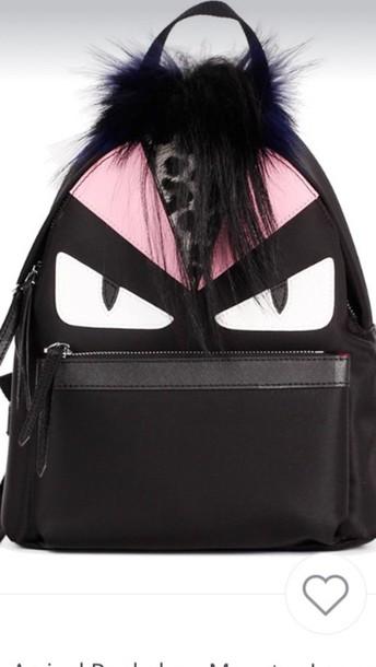 bag evil eye backpack mini pink leopard print designer