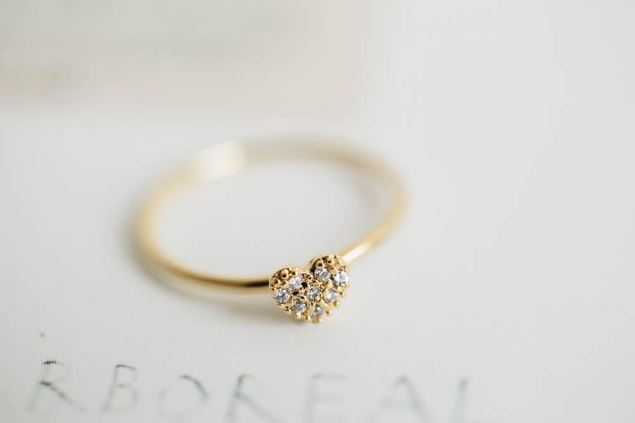 Mini Cz Heart Ring,jewelry,ring,anniversary Ring,heart Ring,wedding Ring,bridesmaid Ring,bridal Ring on Luulla