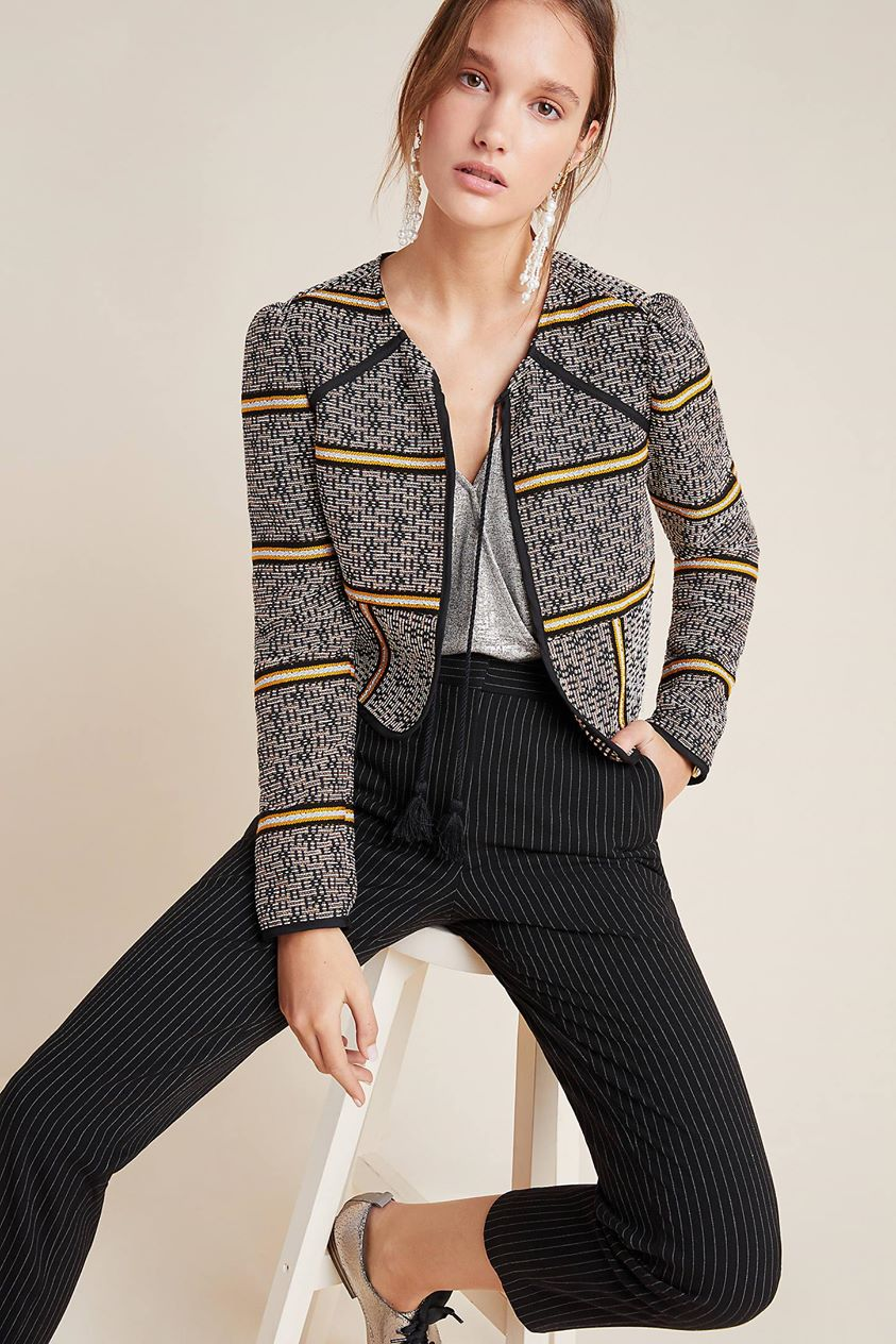 Dolan Left Coast Macie Striped Jacket by in Assorted