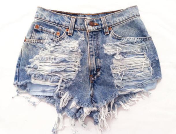 shorts, ripped shorts, pants, high waisted pants, cut off ... Black Shorts Tumblr