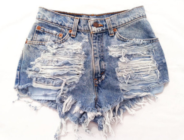 Shorts ripped shorts pants high waisted pants cut off shorts high waisted denim shorts ...
