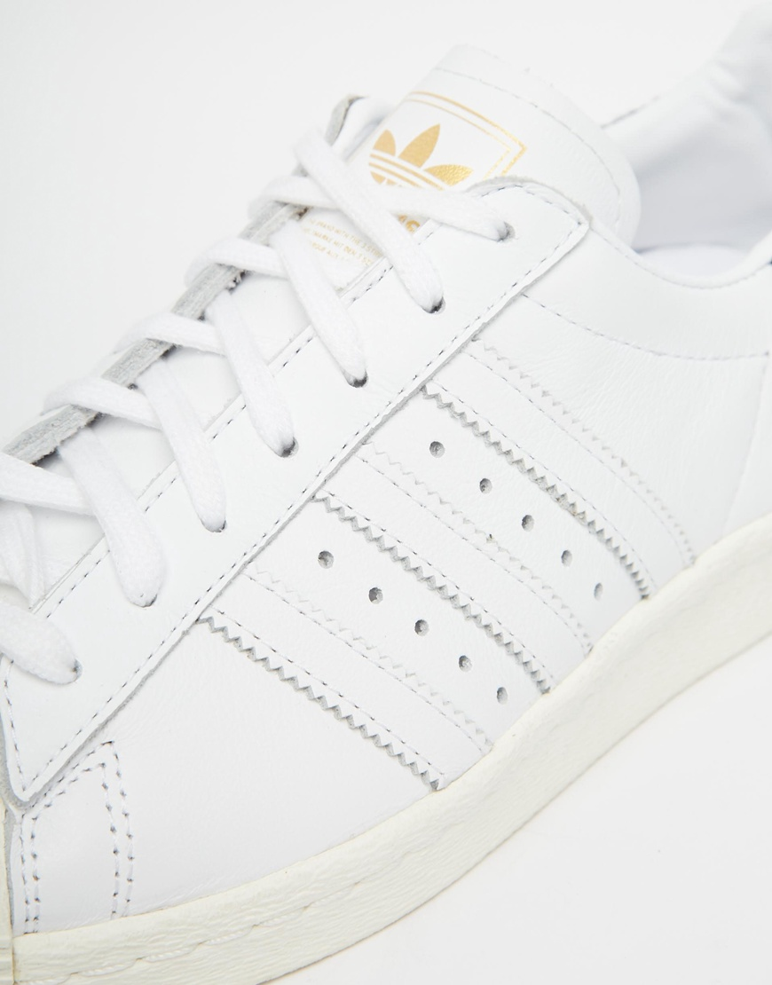 c7ca979d98d7 adidas originals superstar 80s white trainers Sale