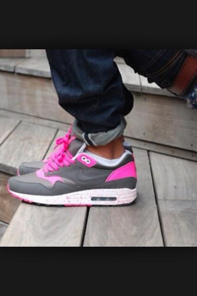 shoes nike air max grey pink