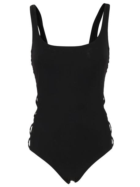 Tory Burch cross black swimwear