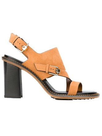 heel chunky heel women sandals leather nude shoes