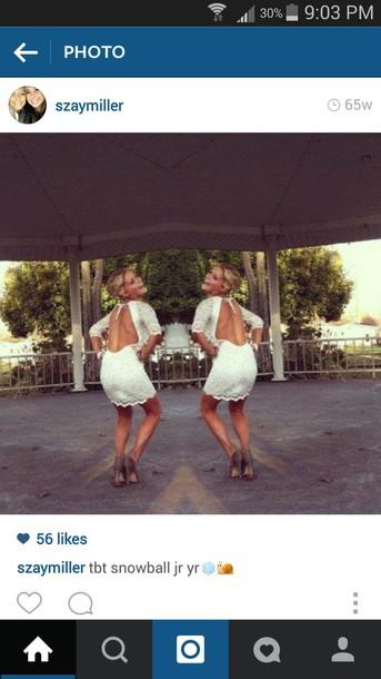 dress white backless dress white dress