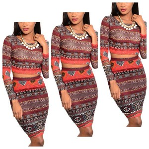 aztec top tribal pattern crop tops print set set chic