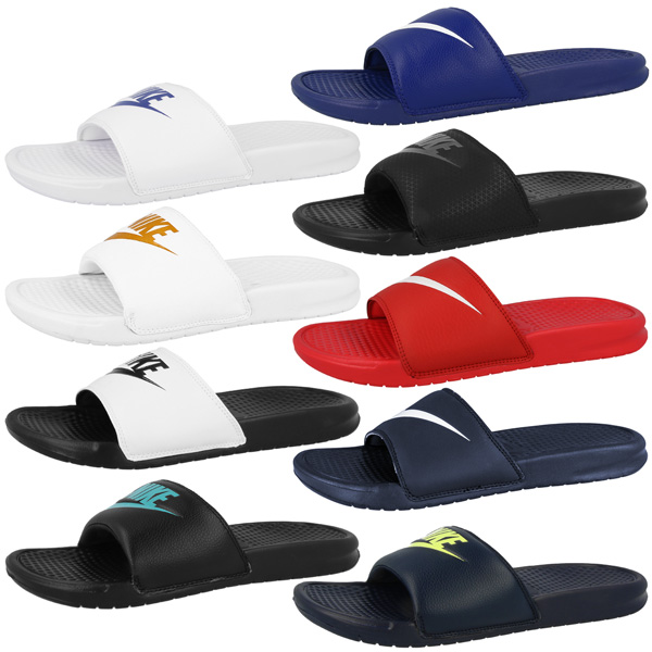 Nike Benassi Jdi Swoosh Bath Slippers Just Do It Leisure Sandal Shower Shoes