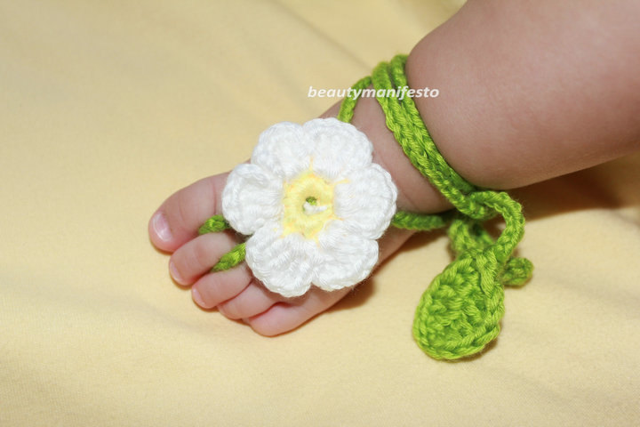 Baby Crochet Barefoot Sandals
