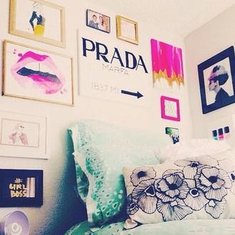 home accessory prada kiss wall decor dorm room