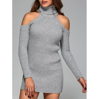 dress grey fall outfits knitwear trendy long sleeves trendsgal.com high neck long sleeve dress bodycon dress bodycon party dress sexy party dresses sexy sexy dress party outfits sexy outfit fall dress spring dress spring outfits winter dress winter outfits classy dress cute dress girly dress date outfit birthday dress clubwear club dress