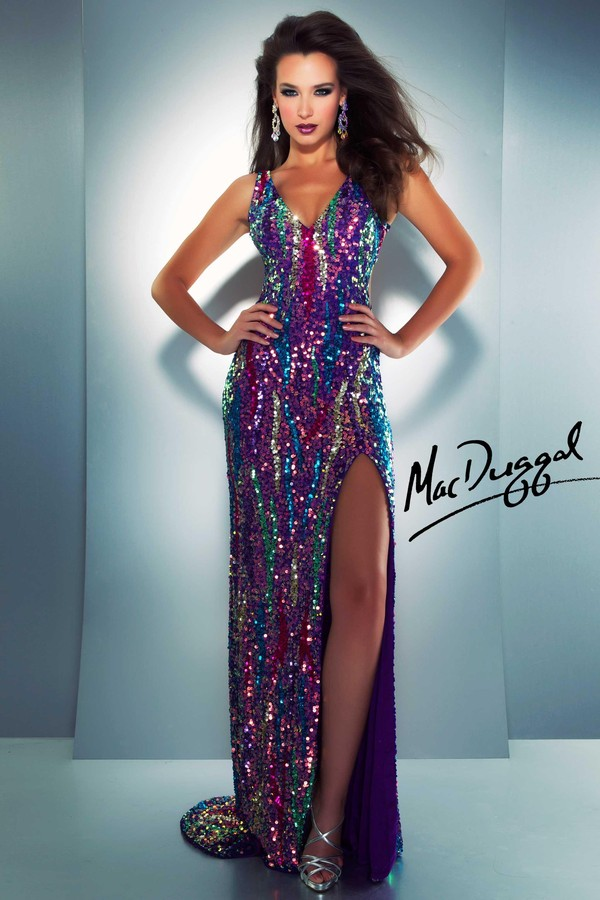 dress 3744a mac duggal prom dresses long prom dress sequin dress electric purple