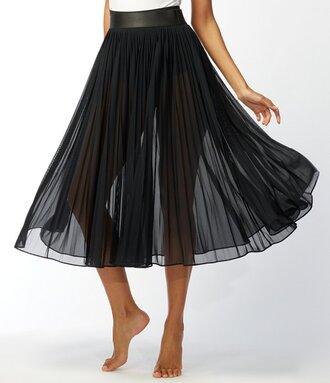 skirt black sheer black sheer midi skirt black skirt pleated skirt sheer skirt