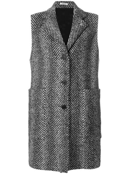 LARDINI coat sleeveless coat sleeveless women spandex black wool
