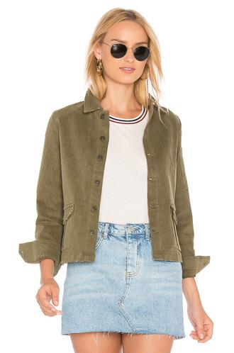 jacket denim jacket denim cropped green