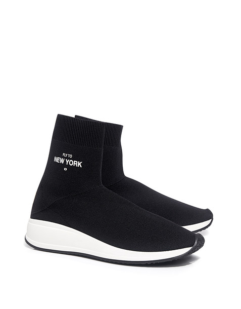 Joshua Sanders \'fly To New York\' Knit Sock Sneakers Black