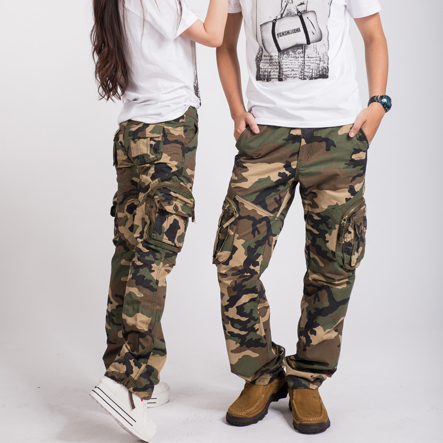 Hottest women army fatigue baggy pants cargo pants sports wear mens camouflage cargo trousers for hiking&camping 87-inPants & Capris from Apparel & Accessories on Aliexpress.com