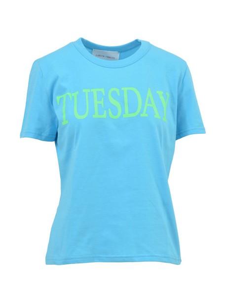 Alberta Ferretti t-shirt shirt t-shirt baby blue baby blue top