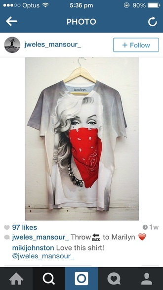 shirt marilyn monroe t-shirt