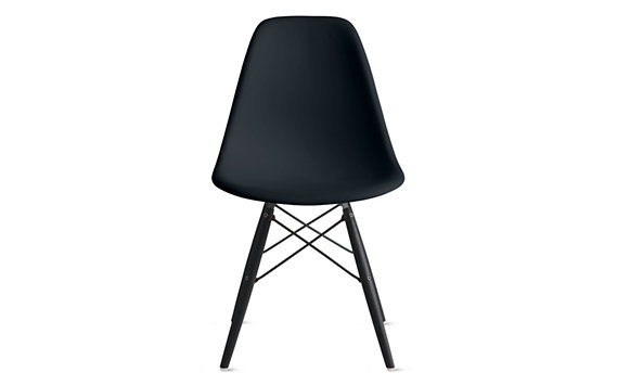 Eames Molded Plastic Dowel Leg Side Chair DSW