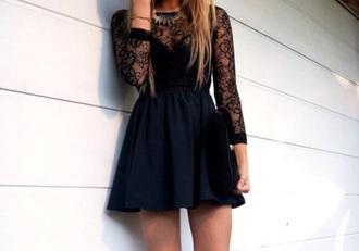 dress black black dress lace lace dress
