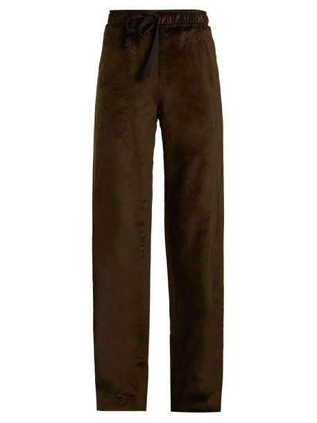PALMER/HARDING velvet dark green pants