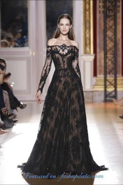 dress black lace dress maxi dress