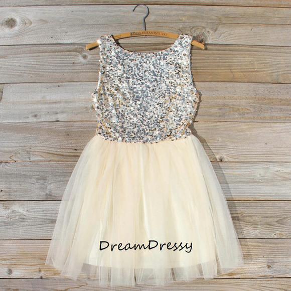 ivory dress homecoming dress party dress