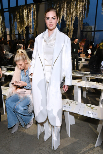 coat pants kate upton ny fashion week 2018 fashion week blouse top