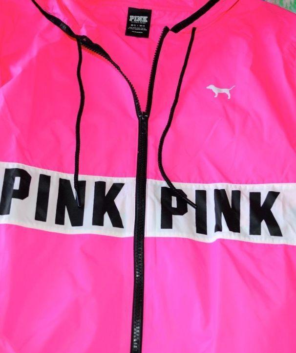 Victorias Secret PINK Anorak Windbreaker Full Zip Jacket M/L