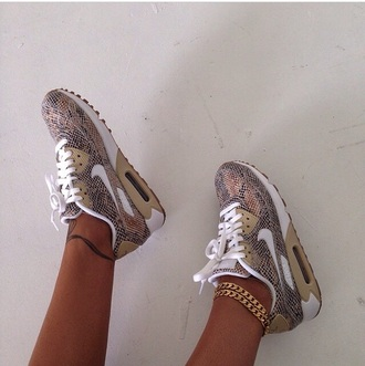 shoes snake print nike sneakers