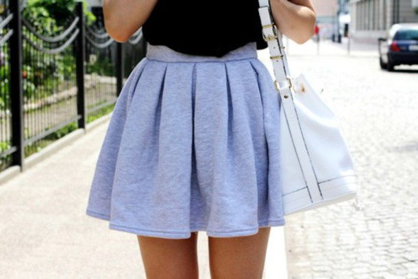 skirt style grey summer outfits