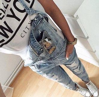 jeans blouse jumpsuit shoes