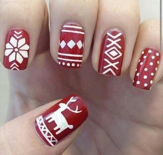 nail accessories nail nail polish aztec christmas deer snowflake snoflakes polka dots holiday season