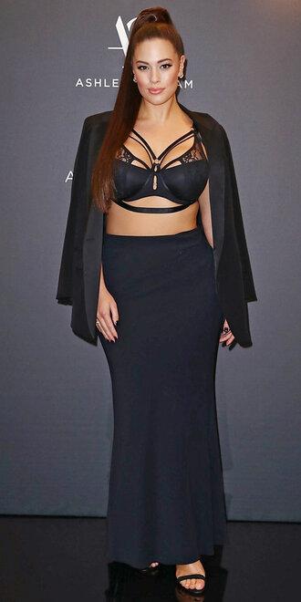 underwear bra ashley graham curvy plus size maxi skirt