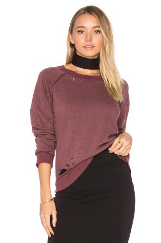 sweatshirt vintage burgundy sweater