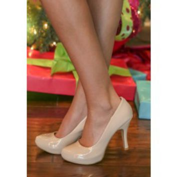 Make My Wish Come True Heels-Nude on Wanelo