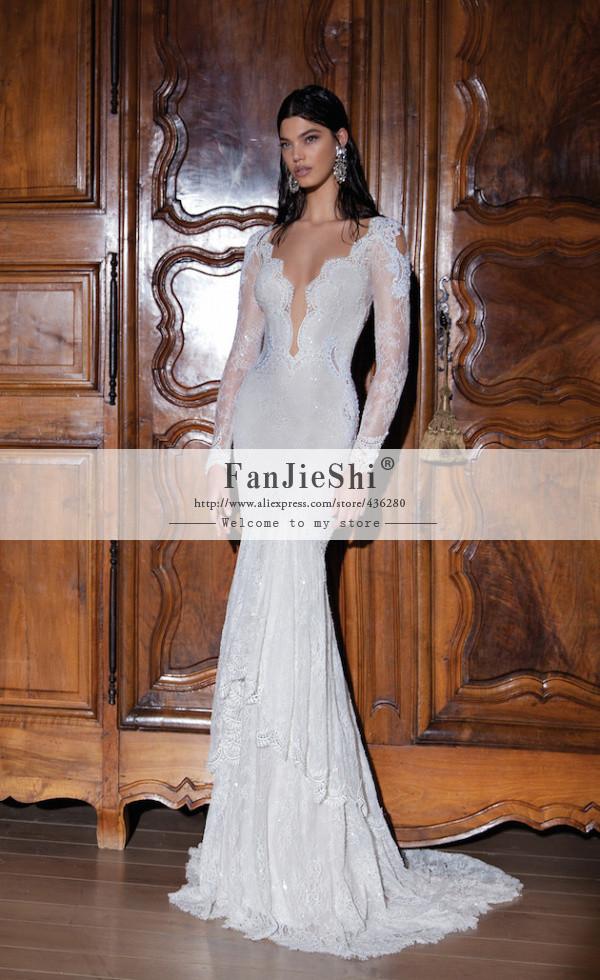 Buy vestido de noiva custom made v neck for Wedding dress appliques suppliers