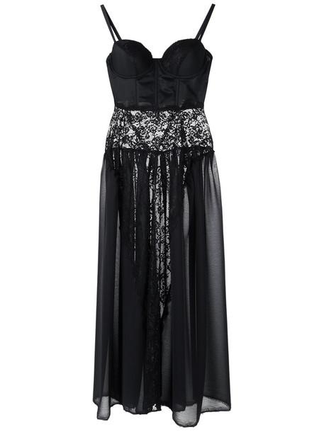 À La Garçonne dress midi dress women midi spandex black