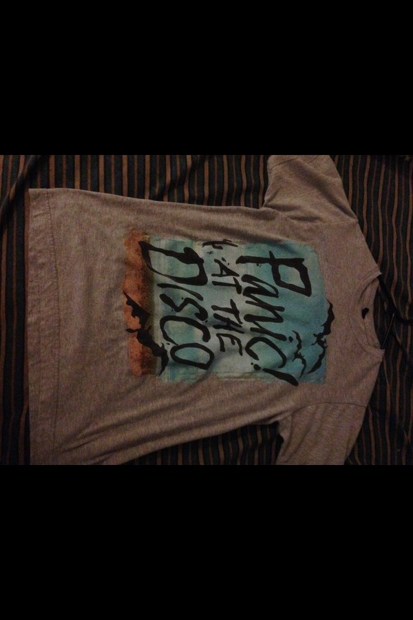 t-shirt grey t-shirt panic! at the disco band merch tumblr