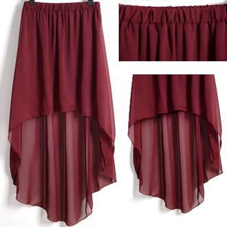 maxi maxi skirt burgundy high low