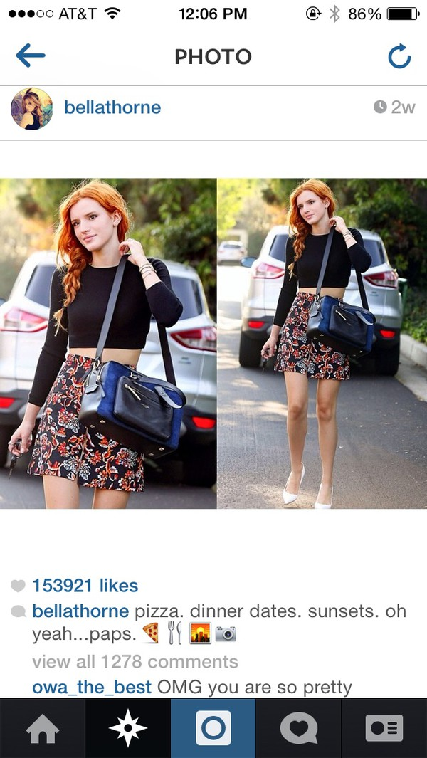 bag bella thorne skirt