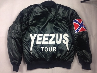 jacket yeezus kanye west tour jacket green black