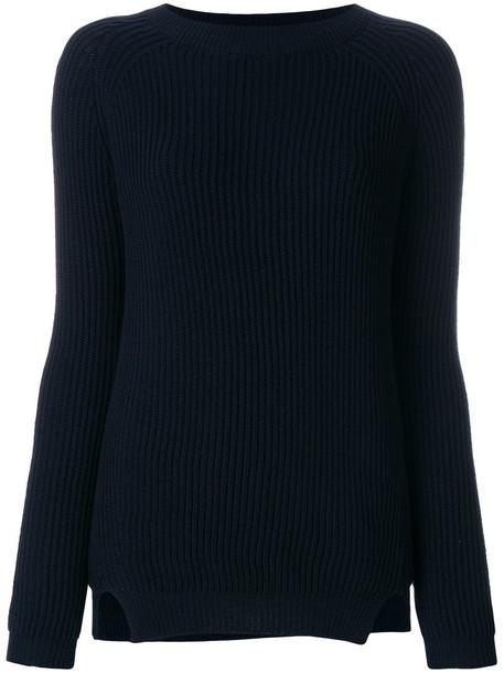 jumper women cold blue wool sweater