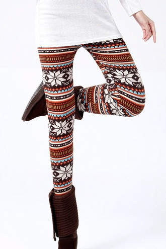 pants leggings cotton leggings printed leggings tribal leggings girly fashion trendy