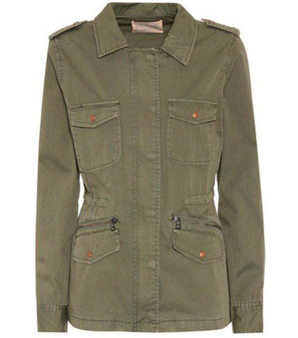 Velvet Ruby cotton jacket in green